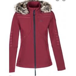 EQUILINE jakke i rød med pels